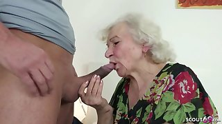 GERMAN Coherent CAUGHT GRANNIE JERK AND HELP WITH Mite
