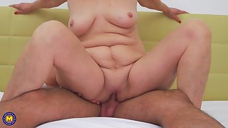 You won't believe how granny Karina W. takes be attracted to be worthwhile for his cock