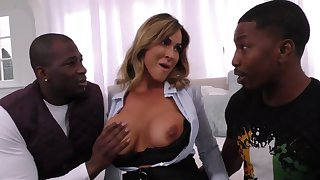 Arousing Realtor Mommy Takes On Two Younger B - fat titties
