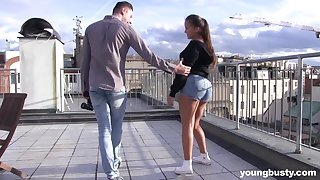 Busty amateur subfusc teen Olvia Nice seduced and pounded overwrought a stud