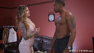 black guy destroys wet Karmen Karma's pussy take his monster dick