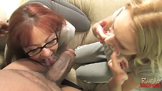 Jet-black monster dick drills deep alongside Ruth Blackweel with an increment of Trinity Post