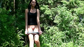 Vika is amateur chick who is used more peeing outdoors when she takes a walk