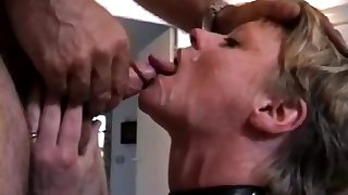 Feeded with cum after the flogging