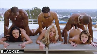 Hot orgy with Teanna Trump, Adriana Chechik, and Vicki Hunt
