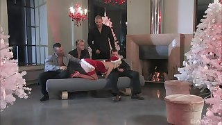 Full gang bang sex leads the hot blonde to multiple orgasms
