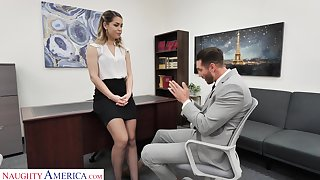 Hot female boss Alina Lopez wants her future staff member to fuck her good