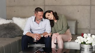 Blue fancy making between and old dude and sexy Casey Calvert