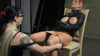 Jade Thomas & Simon Blackthorne relating to Please Take My Panties Off - Femdom Lesbian Domination - KINK