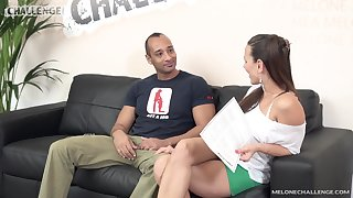 Czech pornstar Mea Melone is frustrated wits her big dicked fan