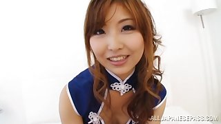 POV video be worthwhile for Japanese darling Hikari Kasumi giving head not far from her man
