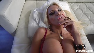 Slutty stepmom POV shafting with stacked Brittany Andrews