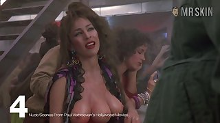 The duo breasted hooker from Paul Verhoeven's film over flaunting their way assets