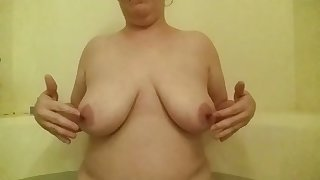 Wash one's hands that's twosome nice tearing and this skank loves to screw around with their way big juggs