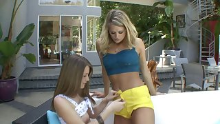 Teasing overwrought the pool ends with lesbian sex - Heather Starlet and Delilah Blue