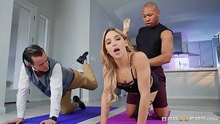 Man's cock shows this bitch proper interracial