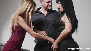 Valentina Ricci increased by her nasty steady old-fashioned are fucked by one oddball increased by insatiable man