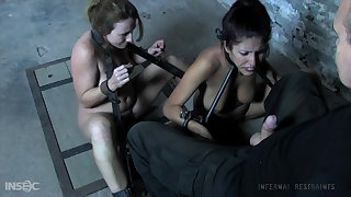 Submissive whore nigh nice rack Lavender Rayne undergoes some BDSM