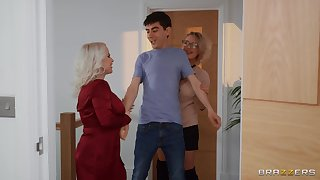 Young lad is in for a huge surprise along one matures