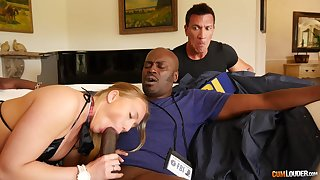 Assembly room seduction with a BBC showing the bitch proper cuckold