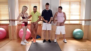 Insane nude sex at a difficulty gym with a difficulty hot guys