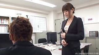 Japanese election girl is in for a spicy treat with the new guy