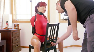 Chairperson Bound about Red Fall on Bodysuit