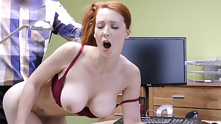Big-Boobed sandy-haired adult have rigid hookup for money