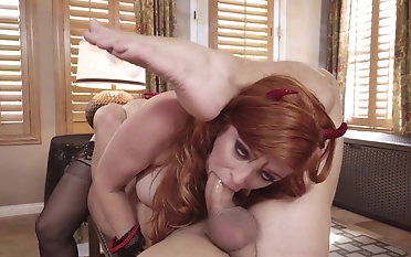 Shove around redhead mom takes clean out relevant down the bum